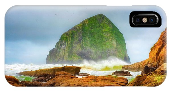 Coastal Storm At Haystack IPhone Case