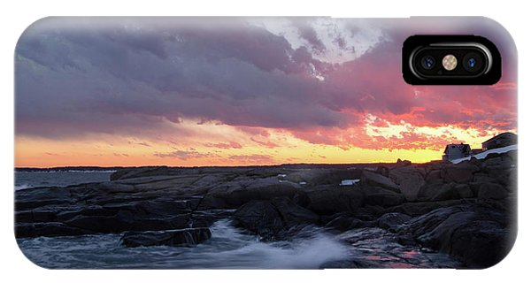 Coastal Sunset Cape Neddick - York Maine  -21056 IPhone Case
