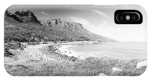 IPhone Case featuring the photograph Coastline In South Africa Black And White by Tim Hester
