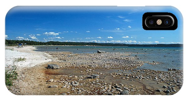 Coastline Of Lake Michigan  Near Petoskey State Park - Little Traverse Bay IPhone Case