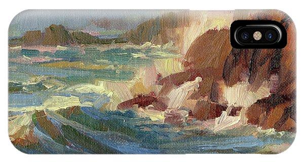 Crash iPhone X Case - Coastline by Steve Henderson