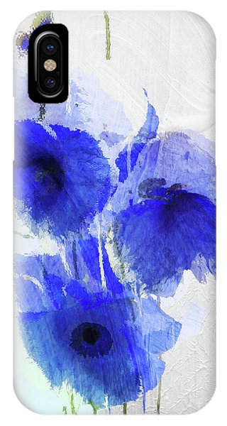 Cobalt Blue iPhone Case - Cobalt Poppies by Mindy Sommers