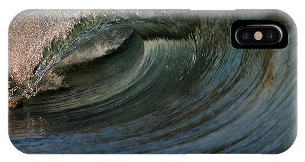 Tidal Waves iPhone Case - Cobalt Wave by Stelios Kleanthous