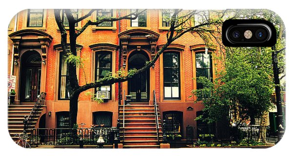Brownstone iPhone Case - Cobble Hill Brownstones - Brooklyn - New York City by Vivienne Gucwa