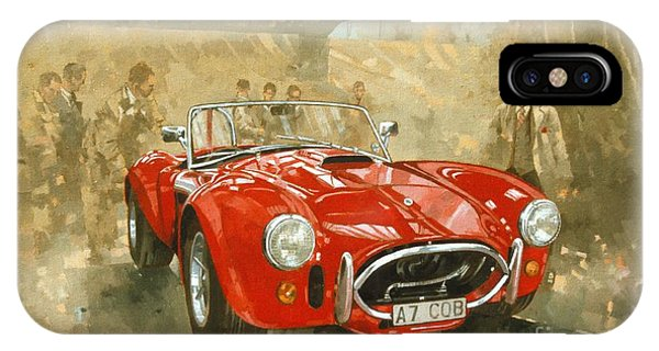 Car iPhone X Case - Cobra At Brooklands by Peter Miller