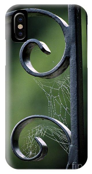 iPhone Case - Cobwebs On Gate by William Kuta