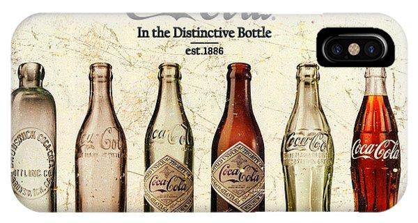 Coca-cola Bottle Evolution Vintage Sign IPhone Case
