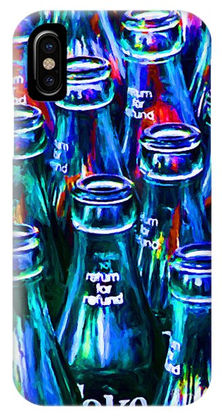 Coca-cola Coke Bottles - Return For Refund - Painterly - Blue IPhone Case