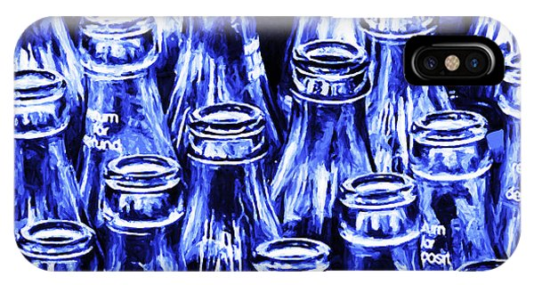 Coca-cola Coke Bottles - Return For Refund - Square - Painterly - Blue IPhone Case