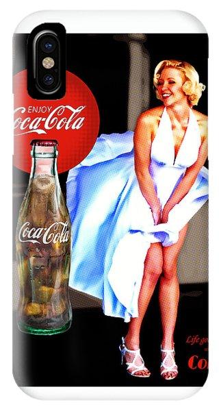 Coca Cola Girl Marilyn IPhone Case