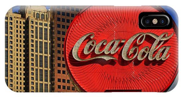 Coca Cola Neon Sign Atlanta IPhone Case