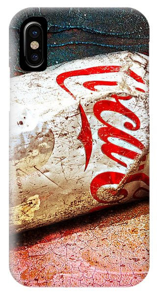 IPhone Case featuring the photograph Coca Cola On The Rocks By Mike-hope by Michael Hope
