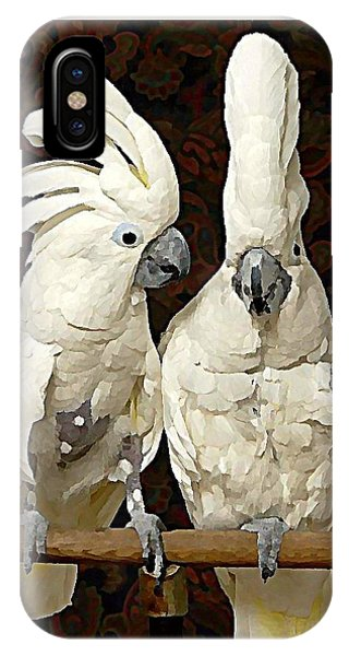 iPhone Case - Cockatoo Conversation by Raven Hannah
