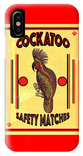 Cockatoo iPhone Case - Cockatoo Safety Matches by Carol Leigh