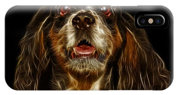 IPhone Case featuring the mixed media Cocker Spaniel Pop Art - 8249 - Bb by James Ahn