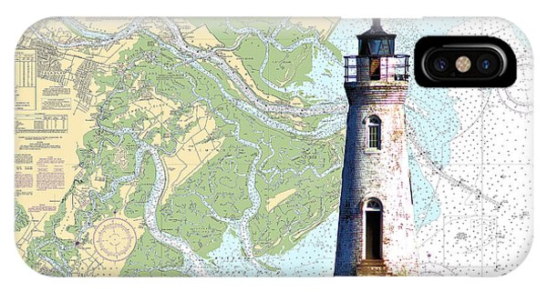 Cockspur On Navigation Chart IPhone Case