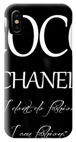Coco Chanel Quote IPhone Case