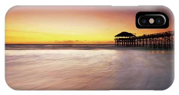 Tiki Bar iPhone Case - Cocoa Beach Fishing Pier by Vicki Jauron