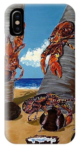 Coconut Crab Cluster IPhone Case