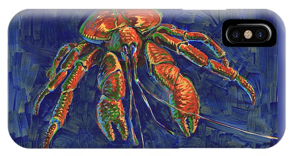 IPhone Case featuring the painting Coconut Crab by Judith Kunzle