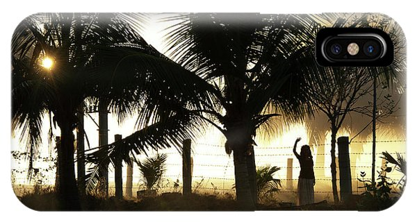 Indian Village iPhone Case - Coconut Grove by Tim Gainey