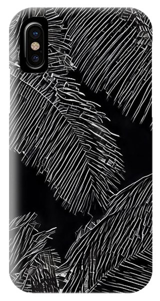 Coconut Palms In Black And White IPhone Case