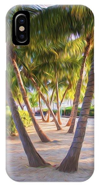Coconut Palms Inn Beachfront IPhone Case