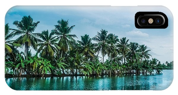 Kerala iPhone Case - Coconut Trees Reflection At Backwaters Of Kerala, India by Art Spectrum