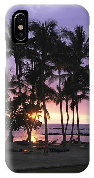 Coconut Trees Silhouetted On Mauna Lani IPhone Case