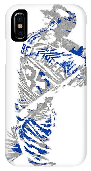 Ball iPhone Case - Cody Bellinger Los Angeles Dodgers Pixel Art 2 by Joe Hamilton
