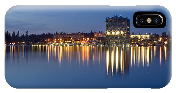 Coeur D Alene Night Skyline IPhone Case