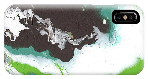 Earthy iPhone Case - Coffee Bean 2- Abstract Art By Linda Woods by Linda Woods
