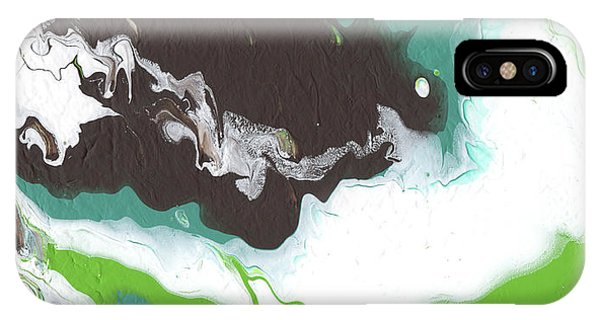 Coffee Bean 2- Abstract Art By Linda Woods IPhone Case