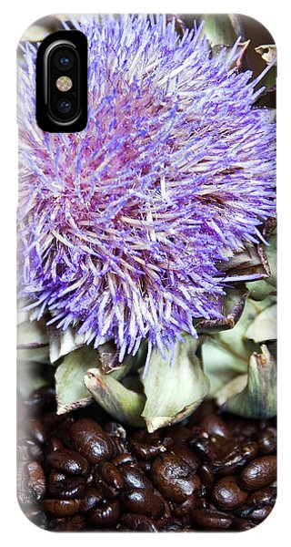 Coffee Beans And Blue Artichoke IPhone Case