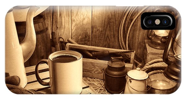 Coffee Break At The Chuck Wagon IPhone Case
