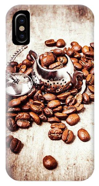 Coffee Break At The Tea House IPhone Case
