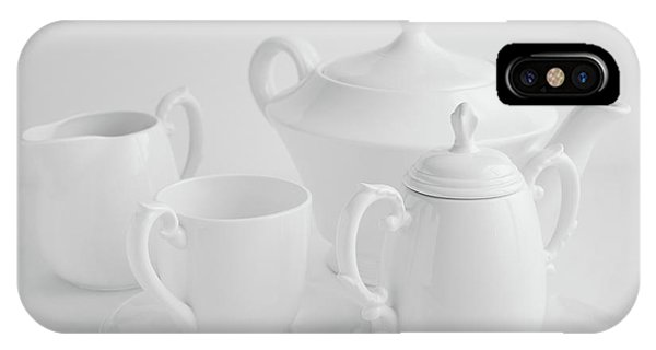 Kettles iPhone Case - Coffee In White by Tom Mc Nemar