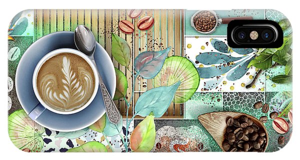 Coffee Shop Collage IPhone Case