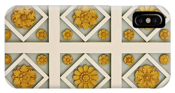 J Paul Getty iPhone Case - Coffered Ceiling Detail At Getty Villa by Teresa Mucha