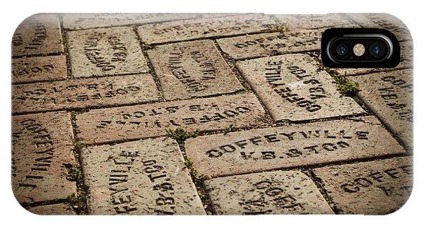 Ok iPhone Case - Coffeyville Bricks by Ricky Barnard