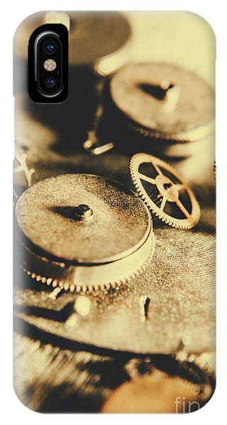 Metal iPhone Case - Cog And Gear Workings by Jorgo Photography - Wall Art Gallery