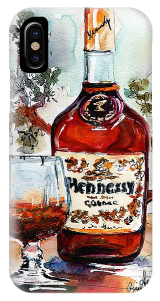 Cognac Hennessy Bottle And Glass Still Life IPhone Case