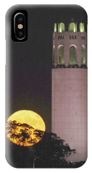 Coit Tower And Harvest Moon IPhone Case