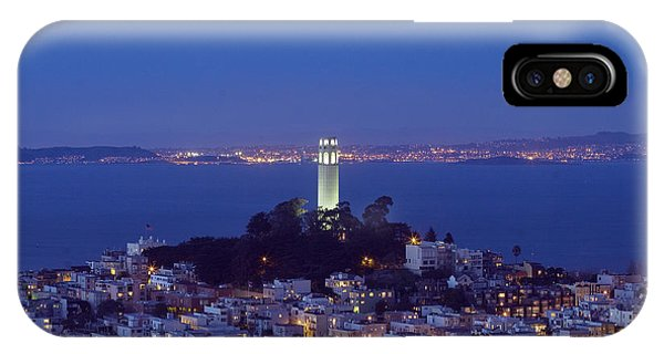 Coit Tower At Dusk San Francisco California Phone Case by Carol M Highsmith
