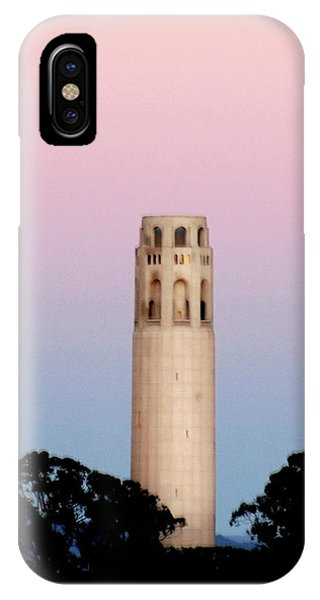 Coit Tower At Sunset IPhone Case