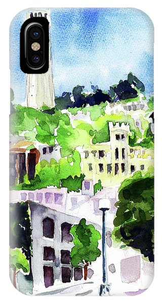 Coit Tower From The Embarcadero IPhone Case