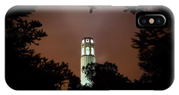 Coit Tower Through The Trees IPhone Case