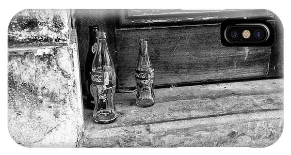 Coke Bottles On The Stoop Mono IPhone Case