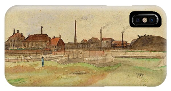 Damage iPhone Case - Coke Factory In The Borinage, 1879 by Vincent Van Gogh