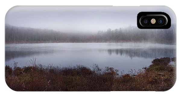 Pond iPhone Case - Cold And Misty Morning... by Jerry LoFaro